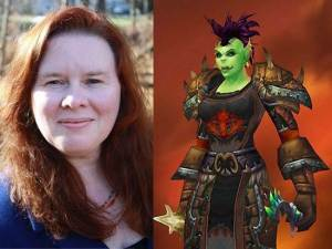 Colleen Lachowicz and her World of Warcraft Orc