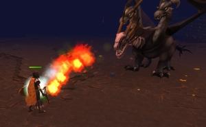 The Fiery Breath of Runescape's King Black Dragon