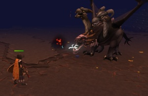 Fighting the King Black Dragon in Runescape