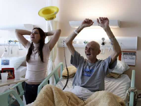 Cancer Patient in Brazil Celebrates Soccer Goal