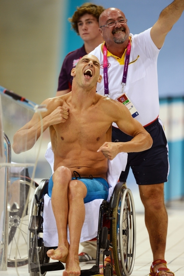 Richard Oribe Celebrates Paralympic Silver