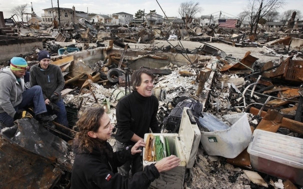 Couple Celebrates Salvage from Destroyed House