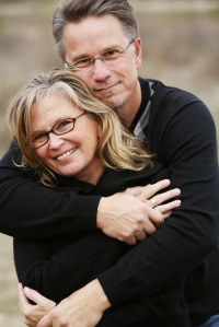 A happy middle-aged couple