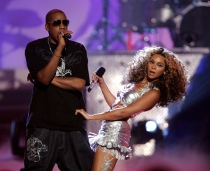 Beyonce and Jay-Z performing together