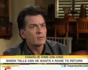 Charlie Sheen in Meltdown Mode