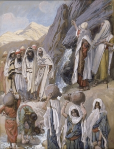 Moses Strikes the Rock, by James Tissot, 1902