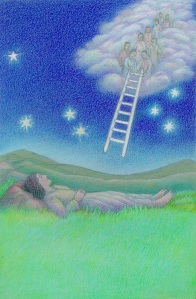 Jacob's Ladder: Original Artwork by Carolyn Judson, © 2005 by New Christian Era Ministries, used by permission