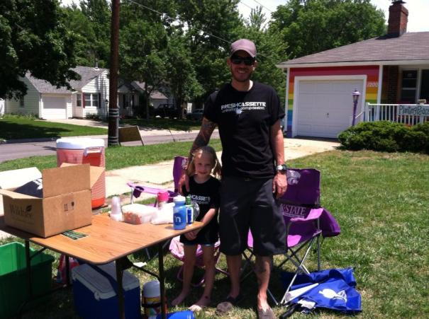 Jayden Sink and Jon Sink at the Lemonade Stand for Peace