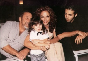 The Estefan family in 1996: Emilio, Emily Marie, Gloria, Nayib