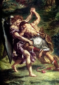 Jacob Wrestling with the Angel, by Eugene Delacroix