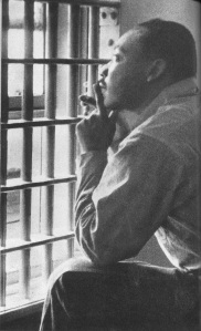 Martin Luther King, Jr., in the Brimingham City Jail