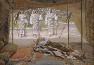 Abraham and the Three Angels, c. 1896-1902, by James Jacques Joseph Tissot