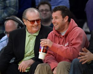 Jack Nicholson and Adam Sandler enjoying a moment together