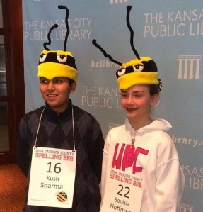 Kush Sharma and Sophia Hoffman Spelling Bee Champions