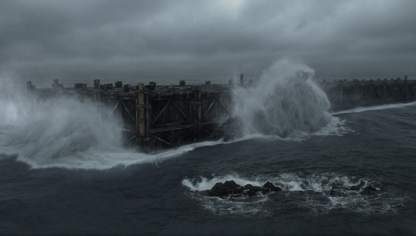 Noah's Ark at sea, from the 2014 Darren Aronofsky film