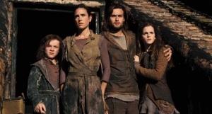 Japeth, Naamah, Shem, and Ila, from the 2014 Darren Aronofsky movie Noah
