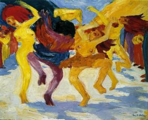 Dance Around the Golden Calf, by Emil Nolde