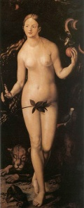 Eve, painted by Hans Baldung Grien