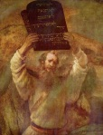Moses with the Ten Commandments, by Rembrandt van Rijn