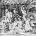 The Women's Bath, by Albrecht Durer, 1496