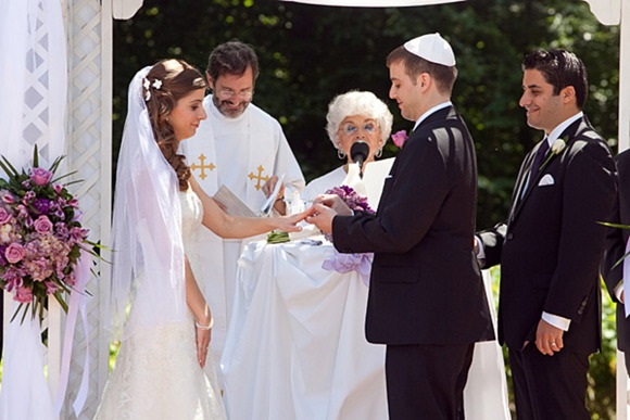 An interfaith wedding ceremony - Christian / Jewish