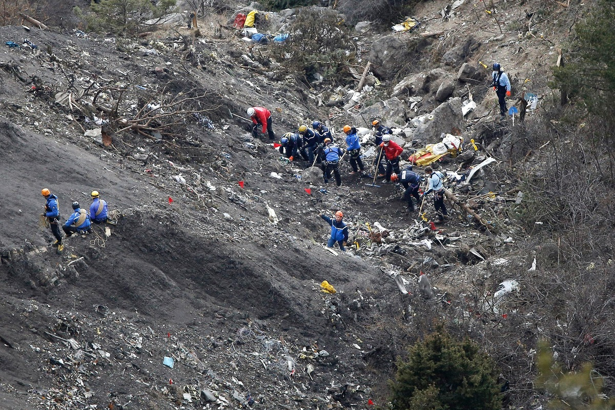 Germanwings flight 9525 crash site from the crash on March 24, 2015