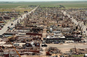 Greensburg, Kansas after the tornado of May 4, 2007