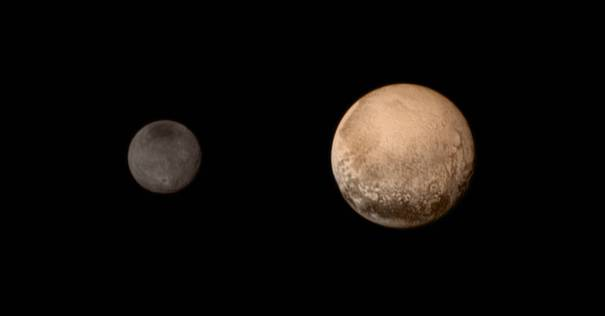 Pluto and Charon - NASA New Horizons photo