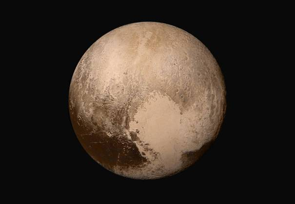 Pluto in true color - NASA New Horizons global mosaic