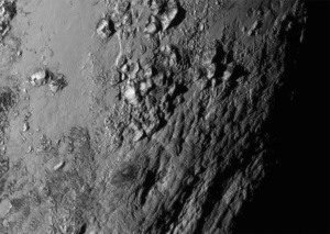 Mountains on the surface of Pluto - NASA New Horizons photo