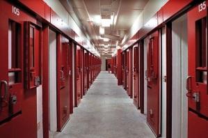 Solitary confinement cellblock