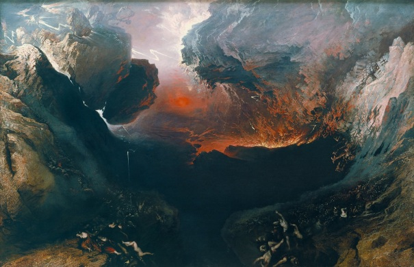 """""""The Great Day of His Wrath,"""" 1851-1853 oil painting by John Martin"""