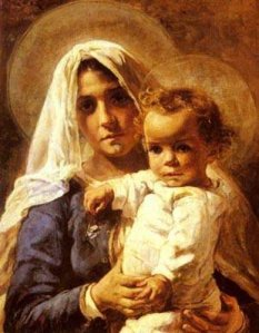 A Mother and Child, by Stefano Novo 1862-1927