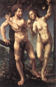 Adam and Eve, by Jan Gossaert (c. 1478-1532)