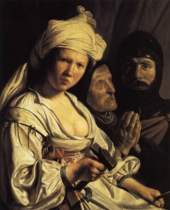 Jael, Deborah, and Barak, by Salomon de Bray (1597-1664)