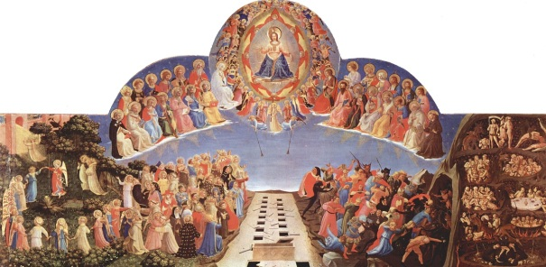 Jesus separating people at the Last Judgement, by Fra Angelico, 1432-1435