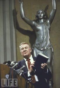 US. Attorney General Edwin Meese III presents the report of the Commission on Pornography in 1986