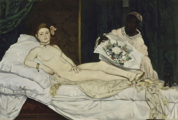 Olympia, by Edouard Manet, 1865