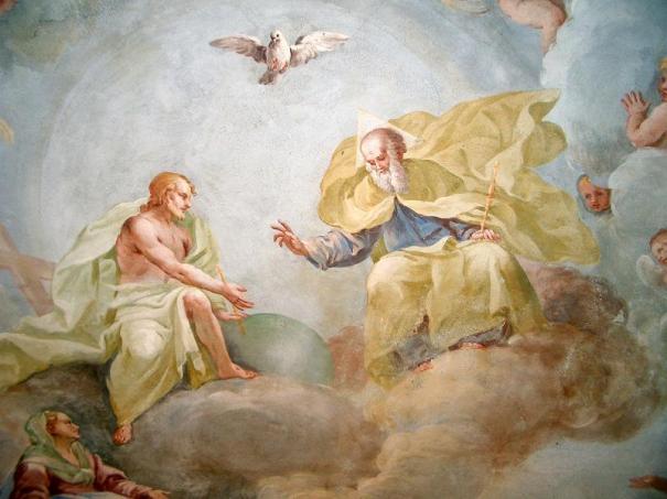 Holy Trinity, fresco by Luca Rossetti da Orta, 1738-39