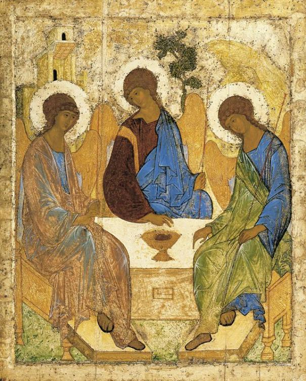 Trinity, by Andrei Rublev, 1411 or 1425-27