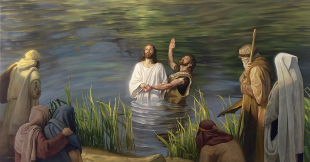 The Baptism of Jesus by John the Baptist in the Jordan River