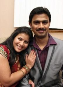 Srinivas Kuchibhotla (1984-2017) and his wife (now widow) Sunayana Dumala