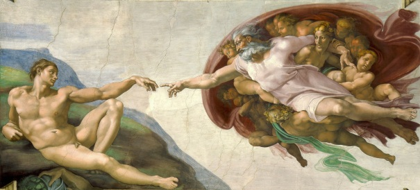 Creation of Adam, by Michelangelo